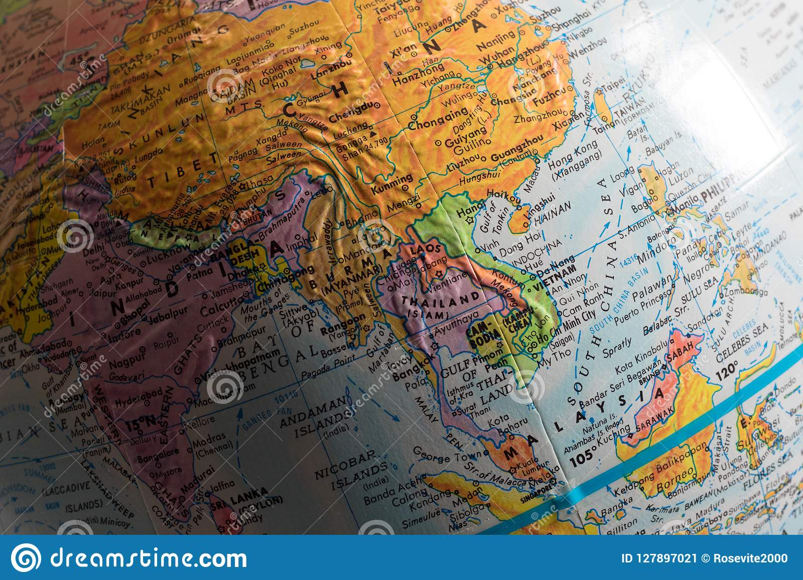 Download Map Of Asia.Map Of Asia Stock Image Image Of Africa Global Chart 127897021