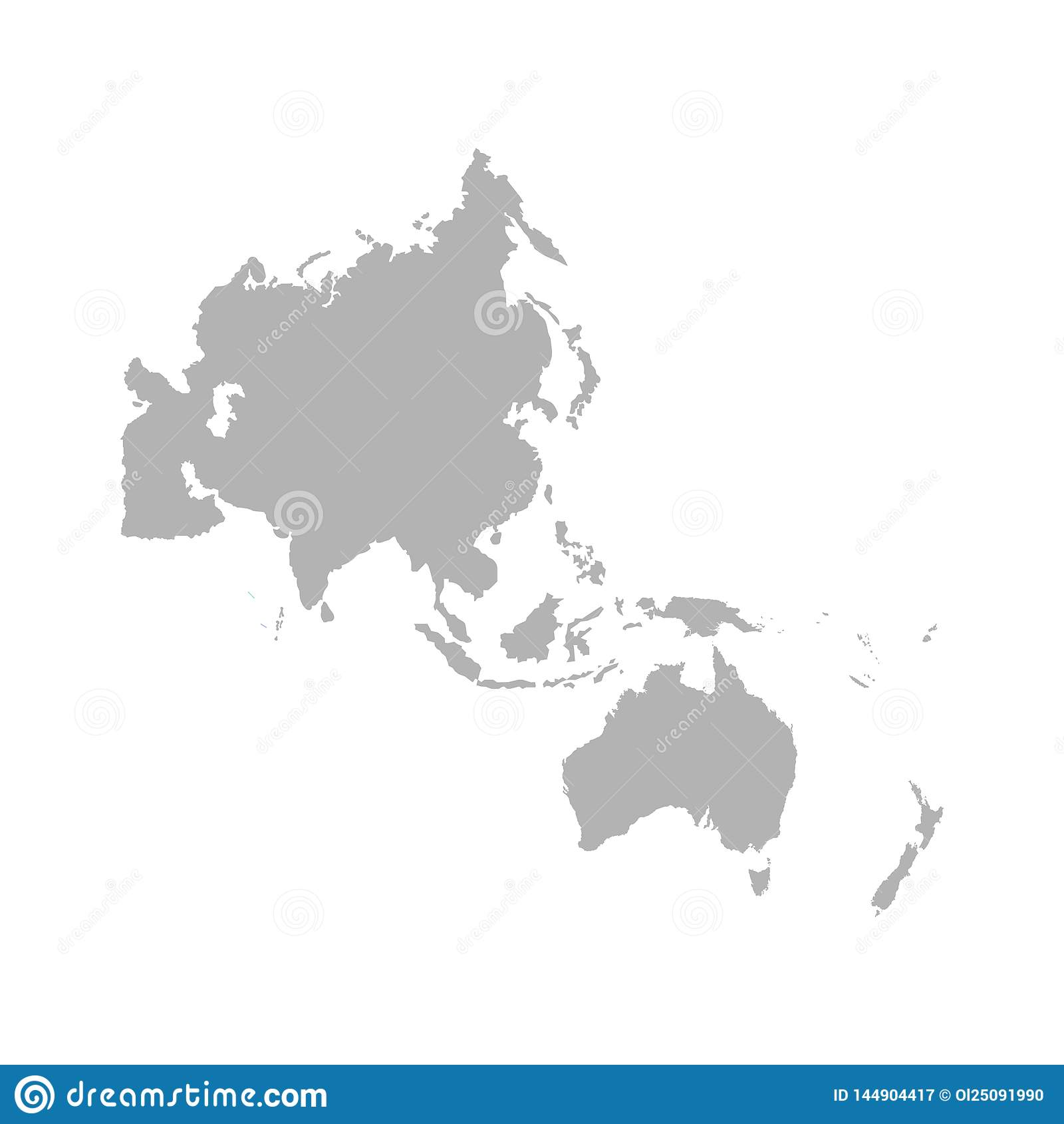 Map Of The Asia Pacific.Map Of Asia Pacific Vector Stock Illustration Illustration Of