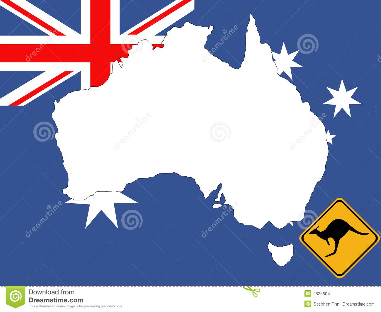Map Of Australia Background Stock Images - Image: 2828604