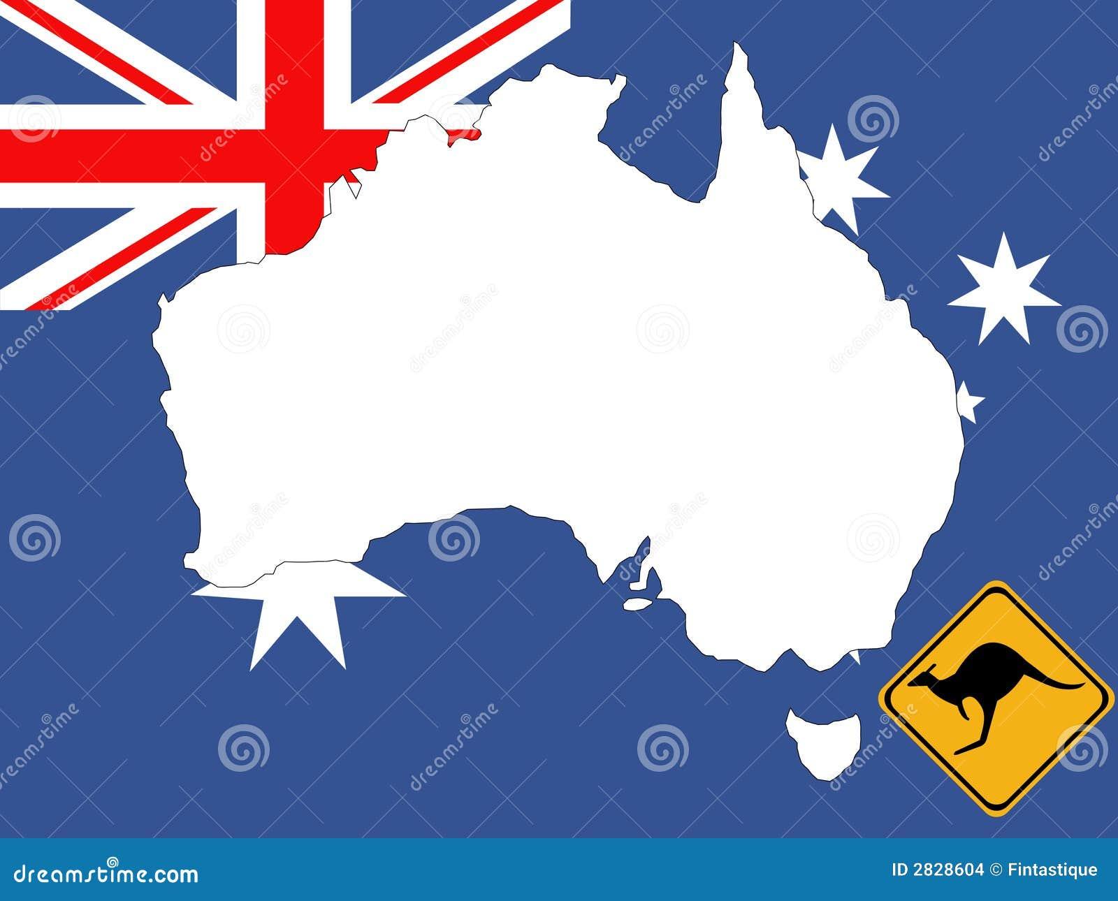 Map Of Australia Background Stock Vector