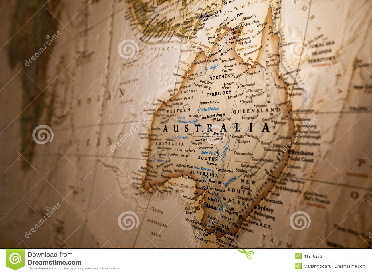 Map Of Australia Photo Image 41976273 – Big Map of Australia