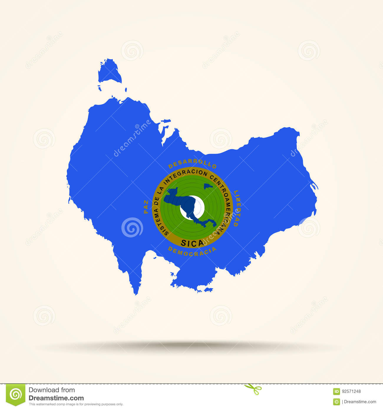 Map of australia in central american integration system flag col download map of australia in central american integration system flag col stock illustration illustration of gumiabroncs Gallery