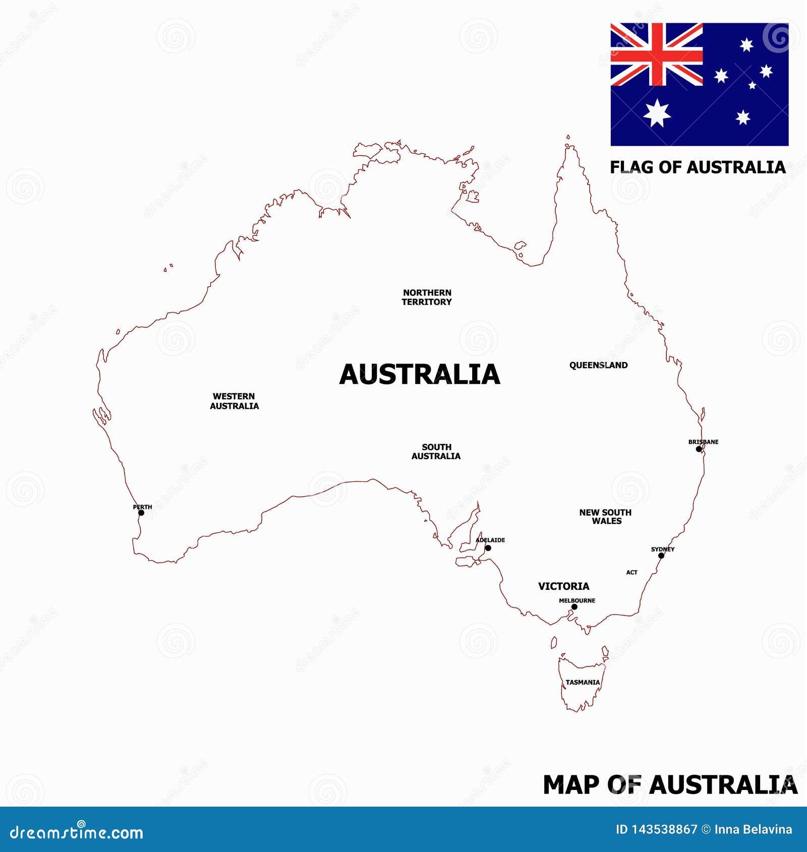 Adelaide Map In Australia.Map Of Australia Stock Illustration Illustration Of Adelaide