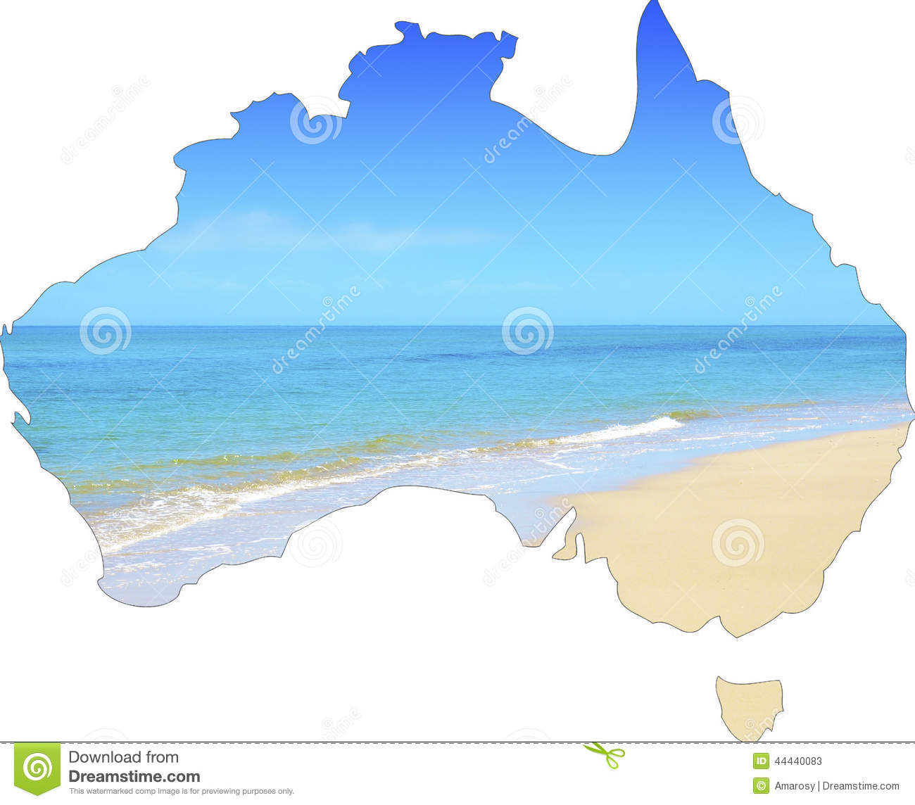 map of australia showing vast wide open sandy beach stock photo image 44440083. Black Bedroom Furniture Sets. Home Design Ideas