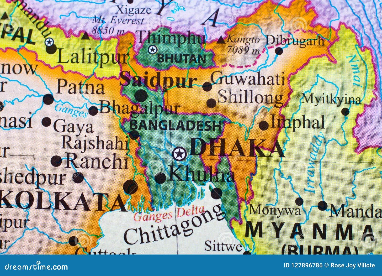 Map Of Bangladesh Stock Photo Image Of Home Greenery 127896786