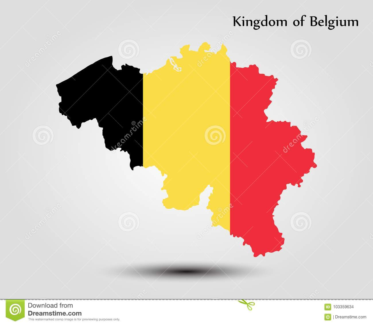 Map of Belgium stock illustration. Illustration of full ...