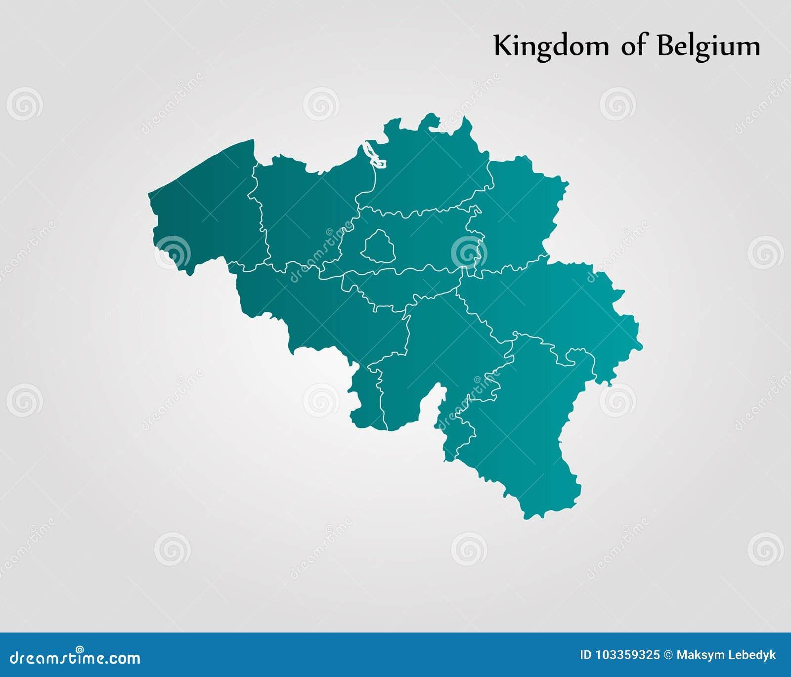 Map of Belgium stock illustration. Illustration of election ...