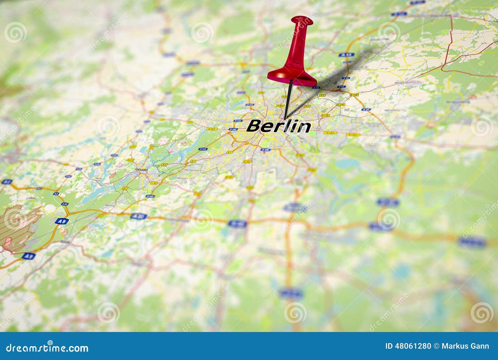Germany Map Berlin.Map Berlin Stock Illustration Illustration Of Europe 48061280