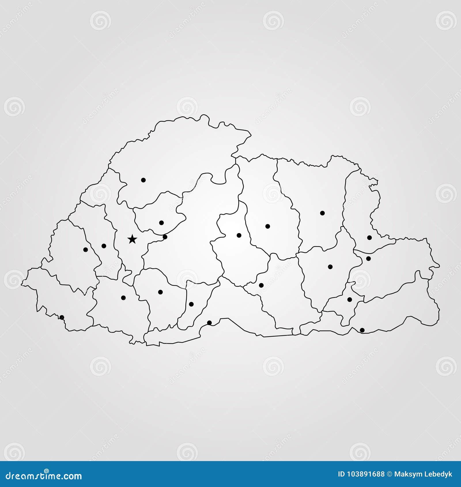 World Map Bhutan.Map Of Bhutan Stock Illustration Illustration Of Isolated 103891688
