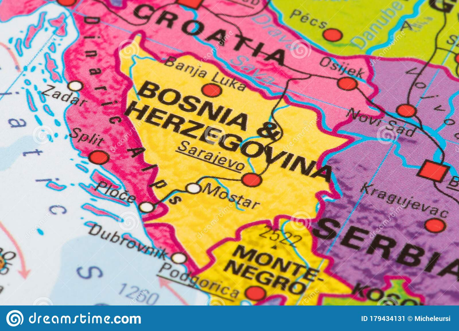 Image of: Map Of Bosnia And Herzegovina Editorial Photo Image Of Business Lockdown 179434131