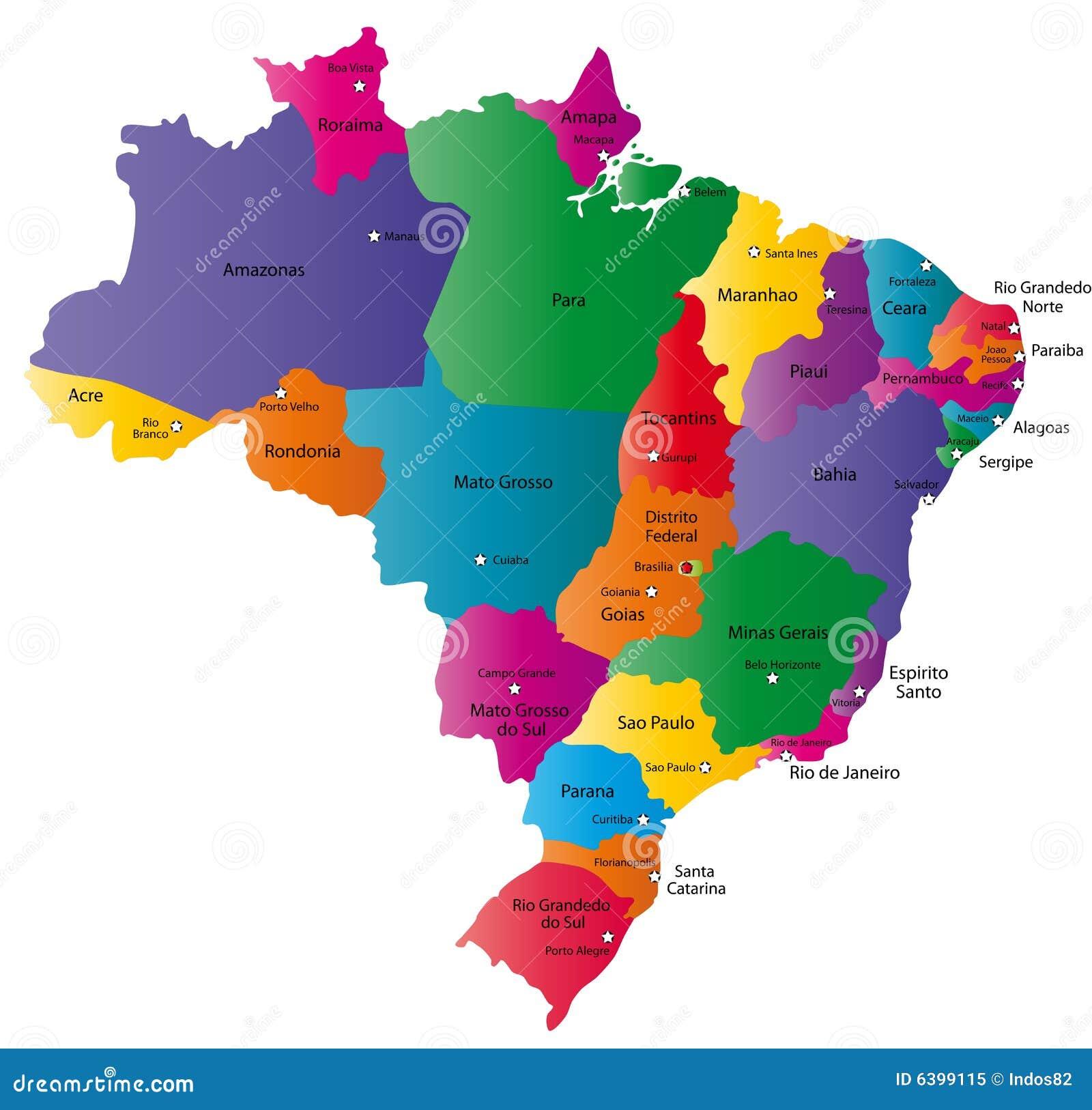 Map of Brazil stock illustration. Illustration of concept ...
