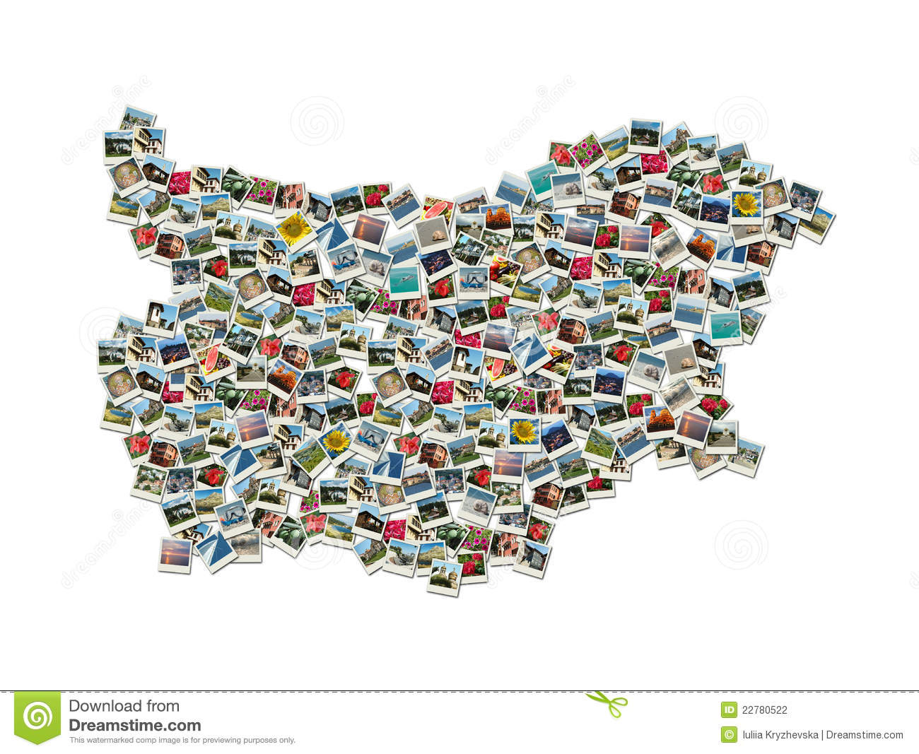 Collage of world map made of travel photos stock image image of map of bulgaria collage made of travel photos stock photography gumiabroncs Image collections