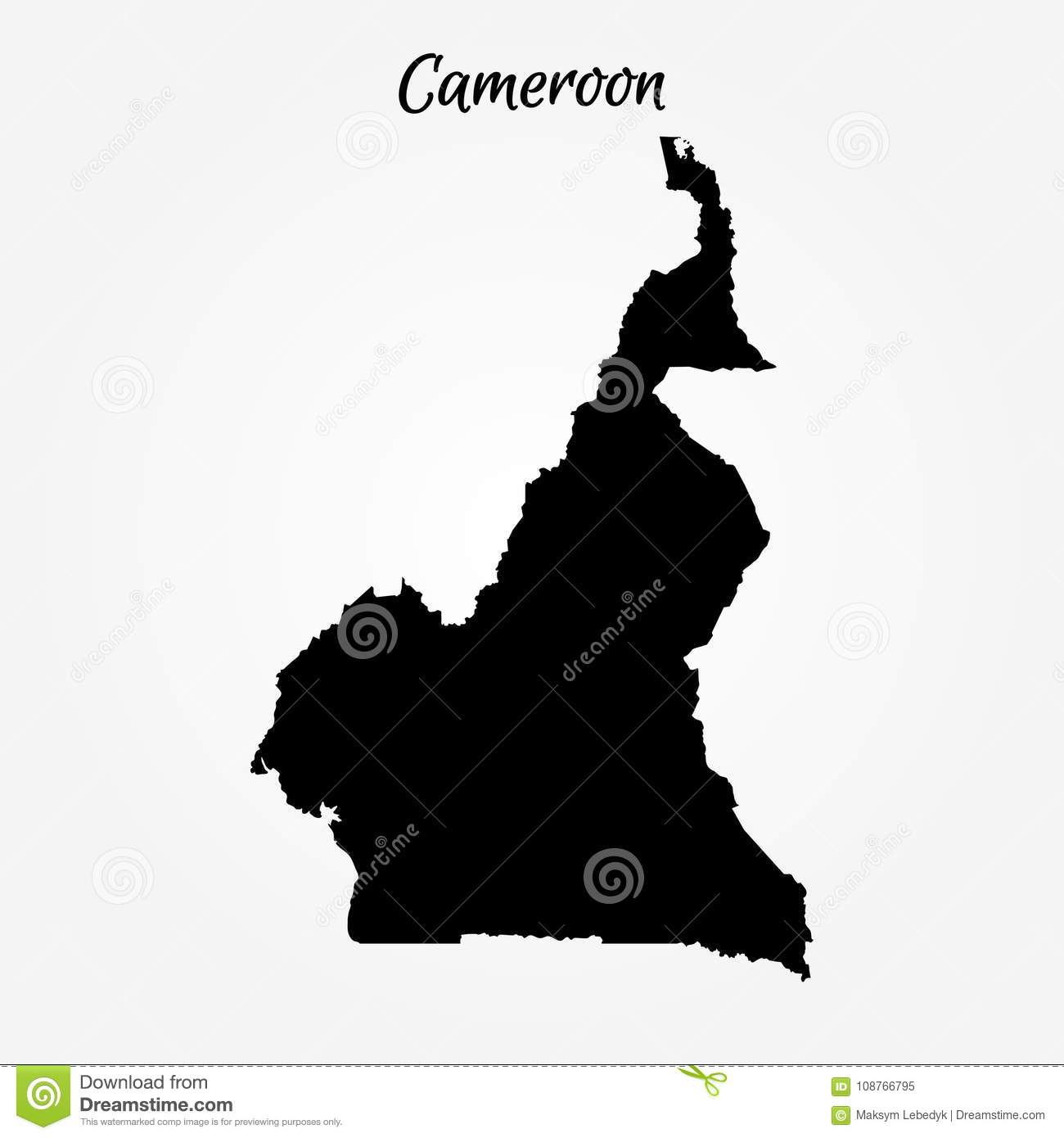 Map of Cameroon stock illustration. Illustration of cameroon - 108766795