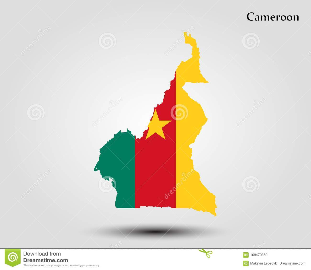 Map of Cameroon stock illustration. Illustration of national - 109470869