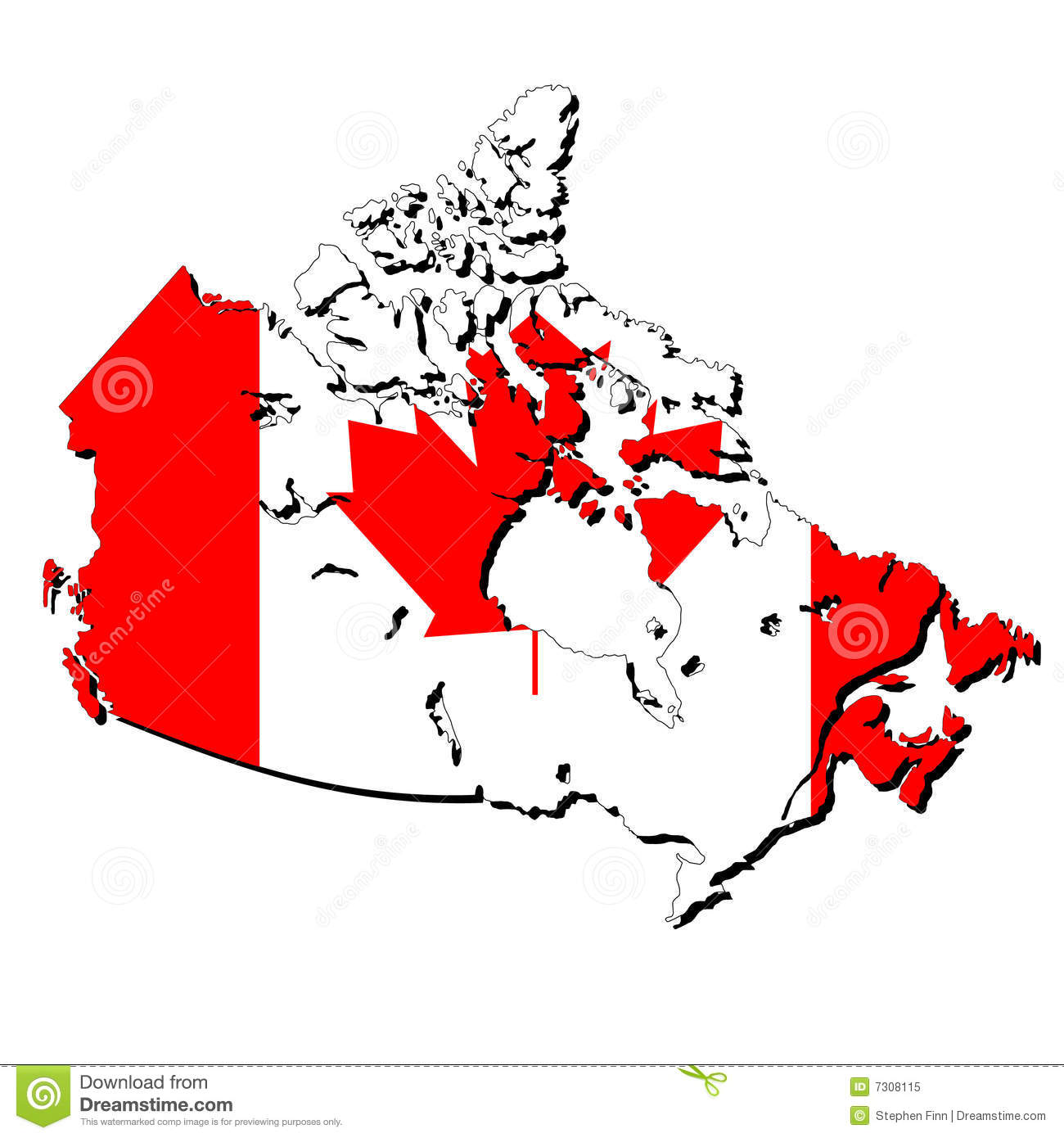 Map Of Canada With Flag Royalty Free Stock Photo Image - Canada map with flag