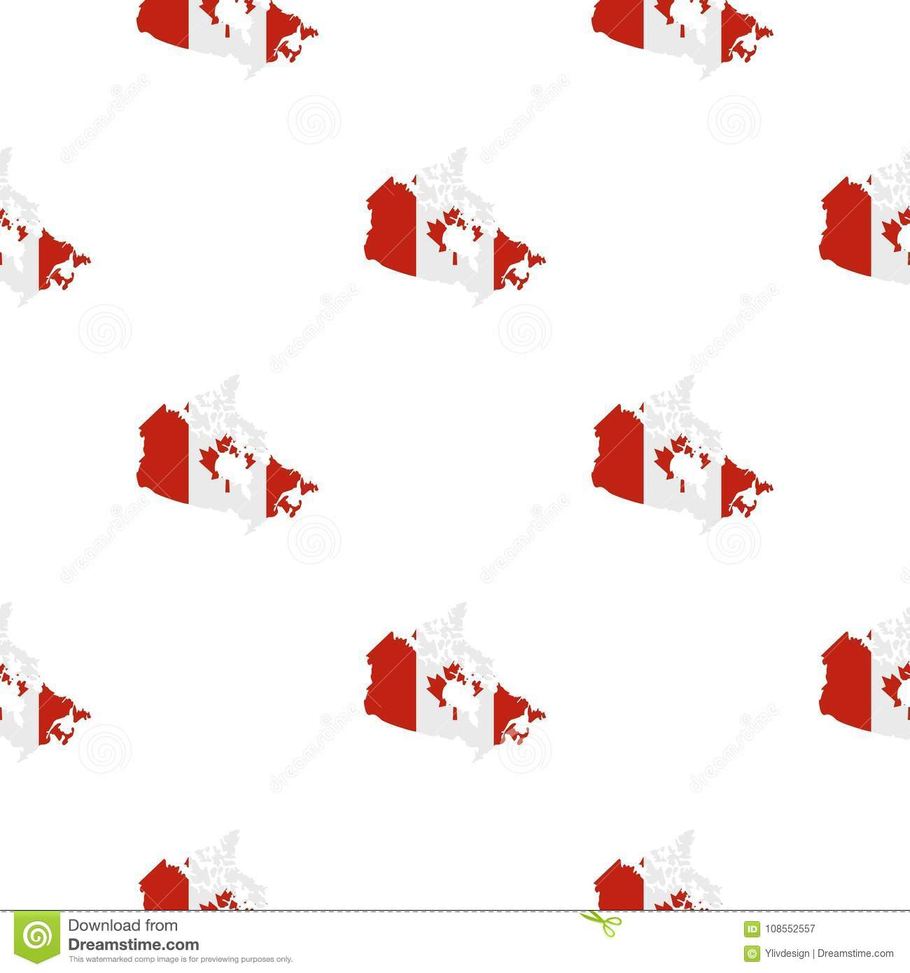 Map Of Canada In National Flag Colors Pattern Stock Vector ...