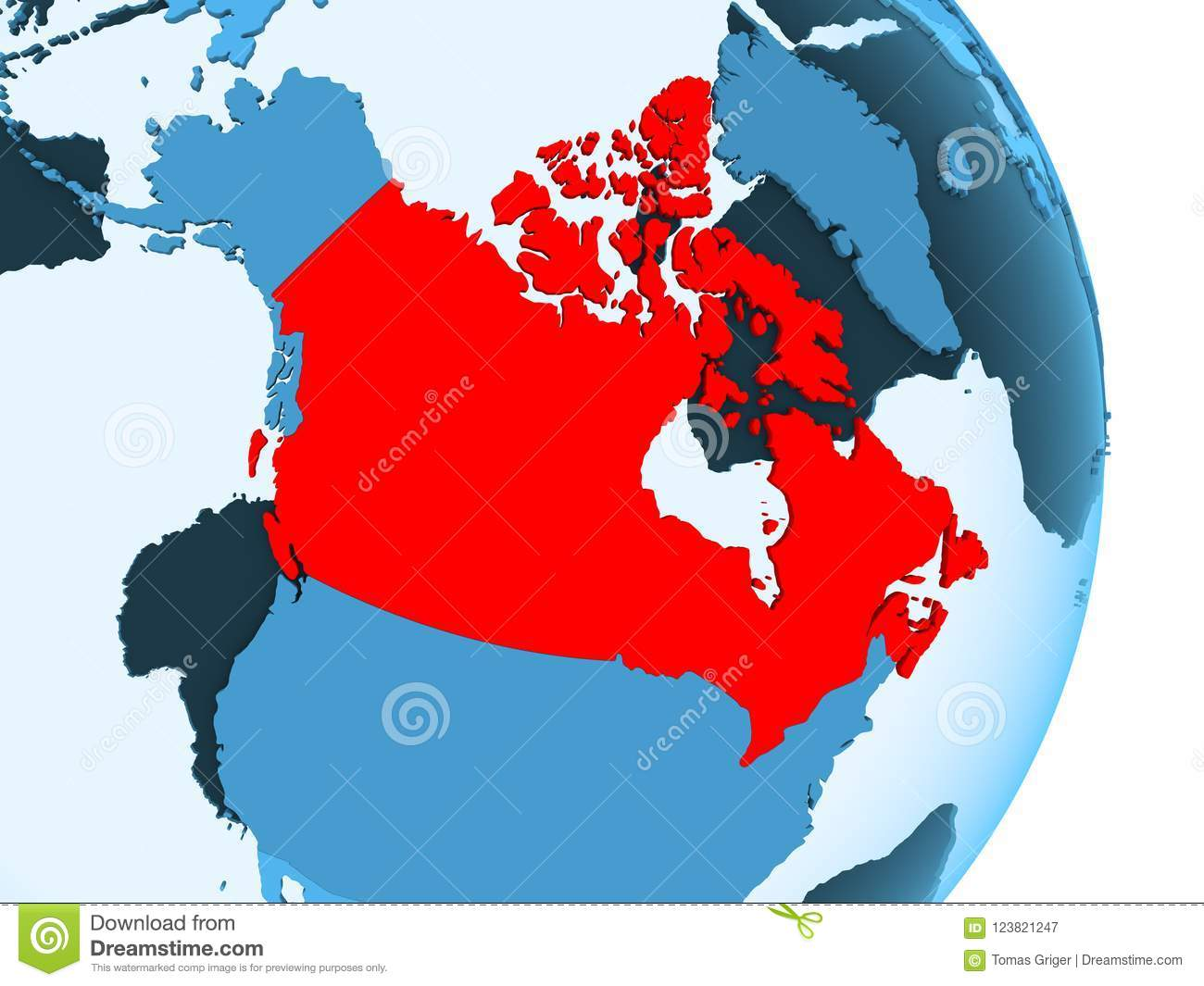 Map Of Canada Red.Map Of Canada In Red Stock Illustration Illustration Of Canada