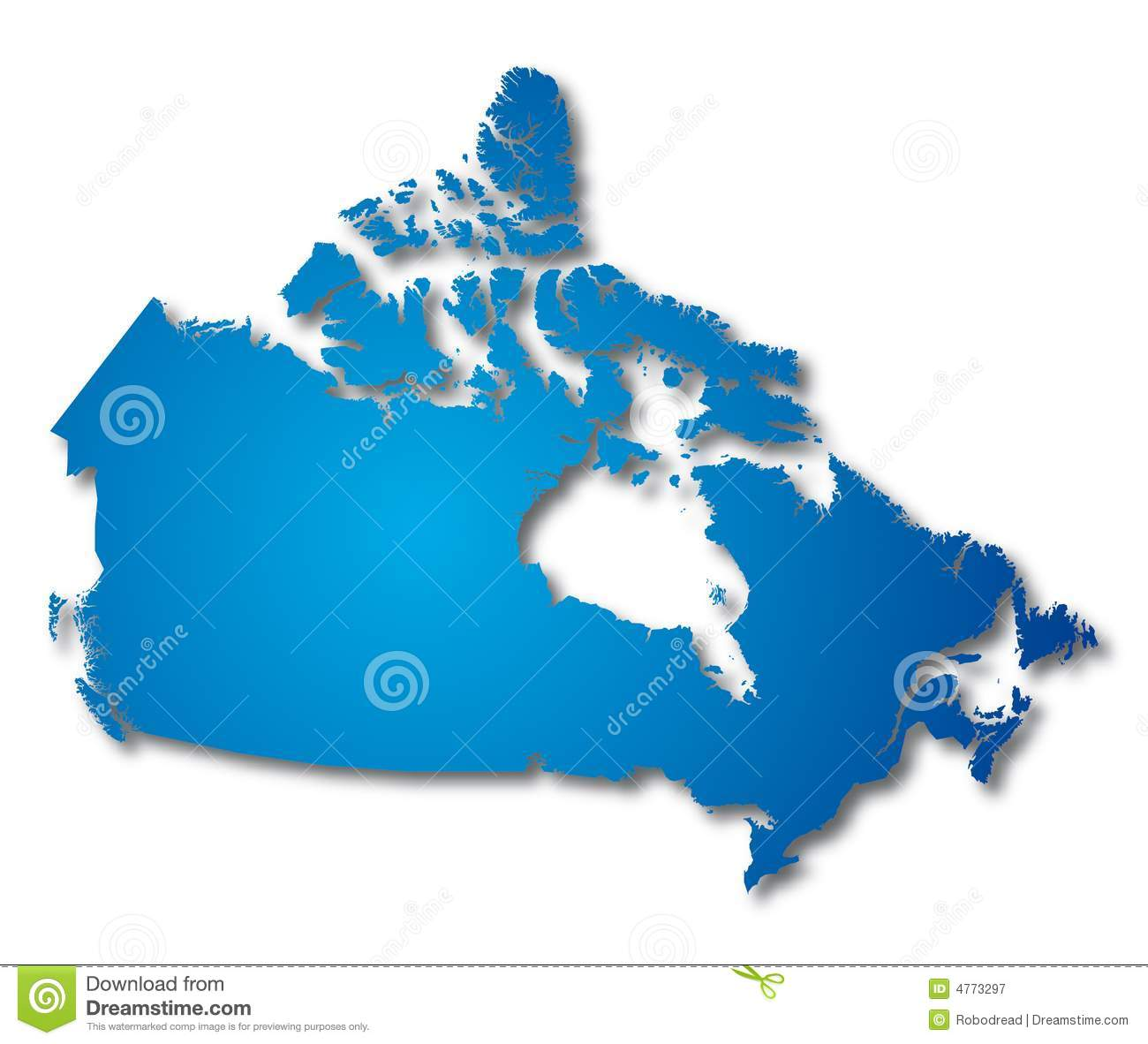 Vector Map Of Canada Stock Photo Image - Free vector map of us and canada