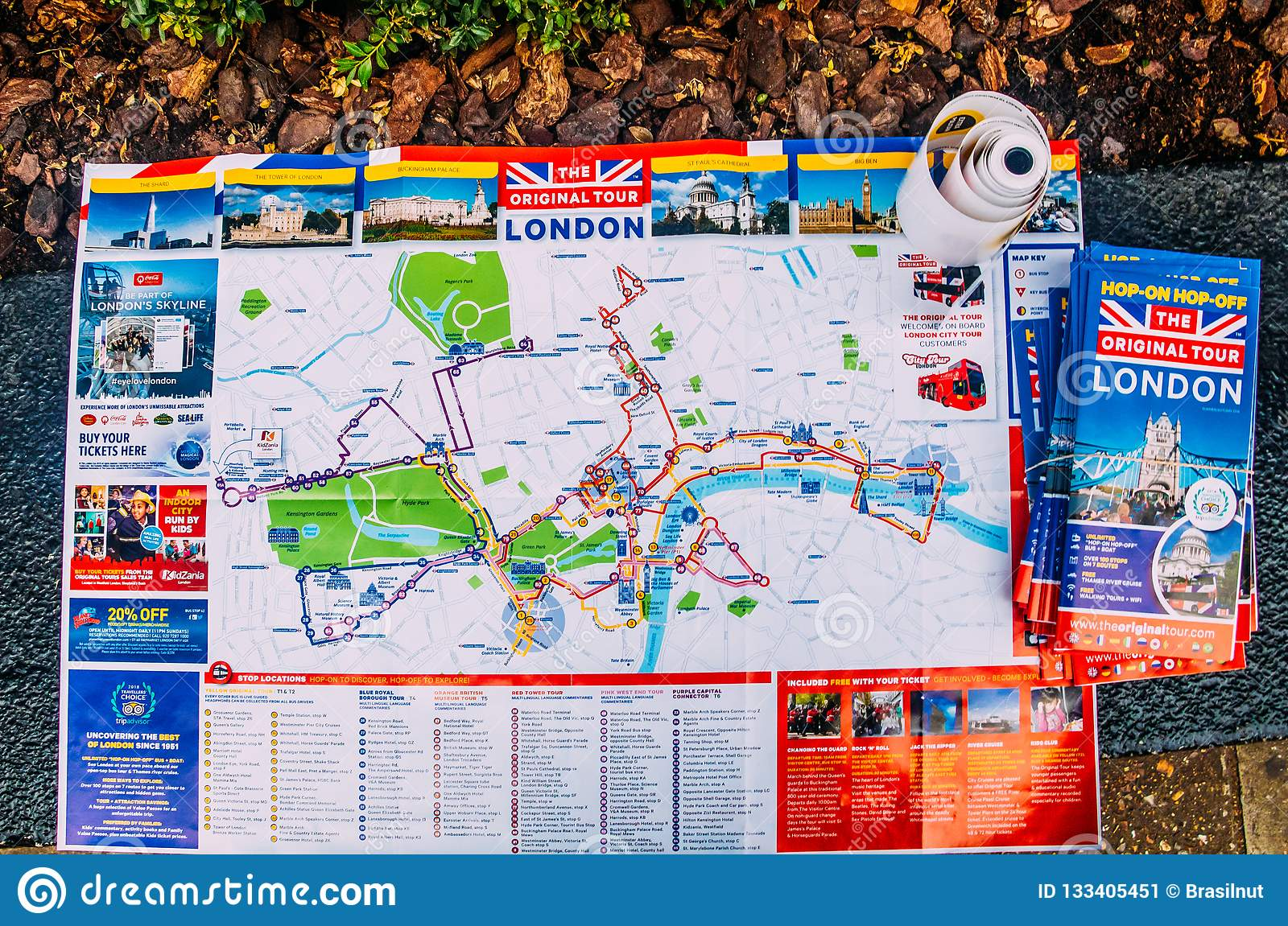 The Original Tour London Map.Map Of Central London Tours Sponsored By A London Original Tour
