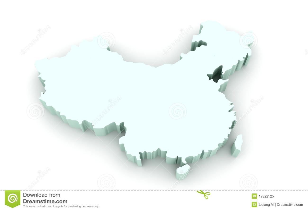 Map of China stock illustration. Illustration of china - 17822125