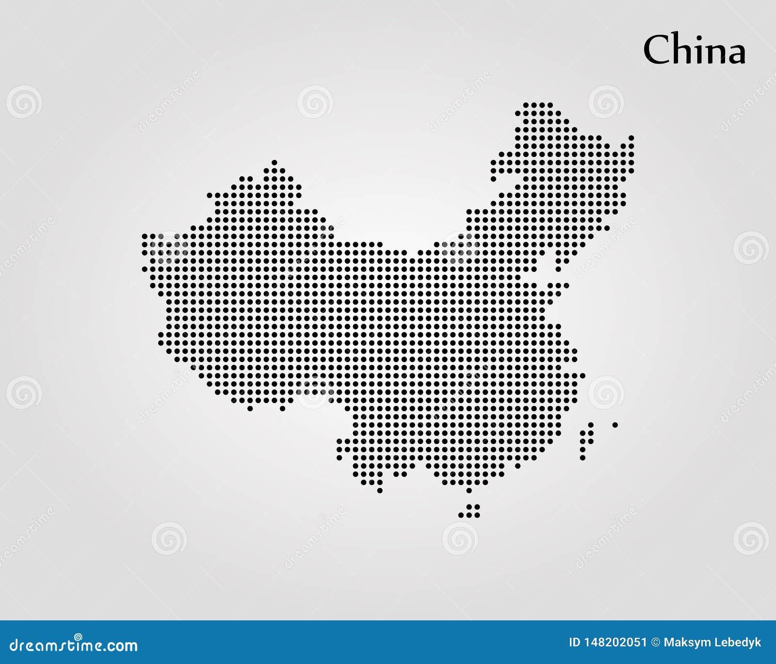 Map of China. Vector illustration. World map