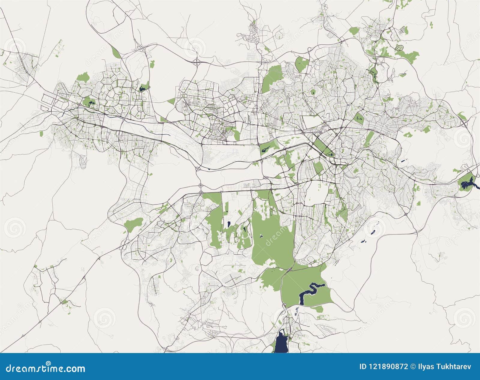 Map Of The City Of Ankara, Turkey Stock Vector - Illustration of ...