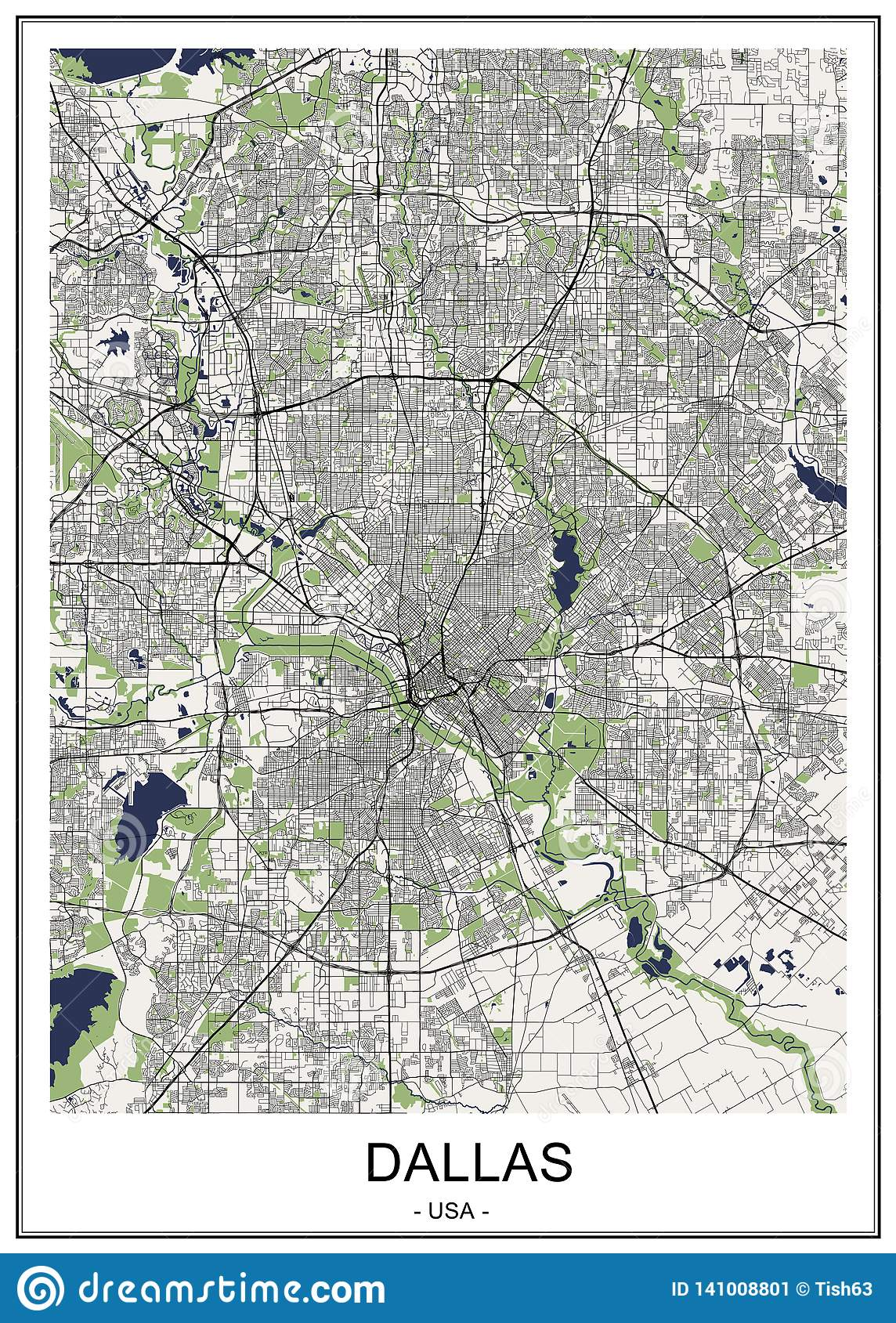 Map Of The City Of Dallas, Texas, USA Stock Illustration ... Dallas Map Usa on night view of dallas, transportation dallas, hollywood home tour dallas, interactive map of dallas, map of cities around dallas, street map dallas, texas dallas, money dallas, railroad map dallas, zip code map dallas, tourist map of dallas,