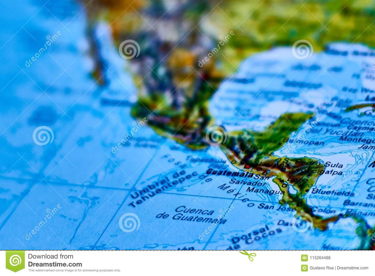Map Of The City Of Guatemala Stock Photo - Image of towns, cities ...