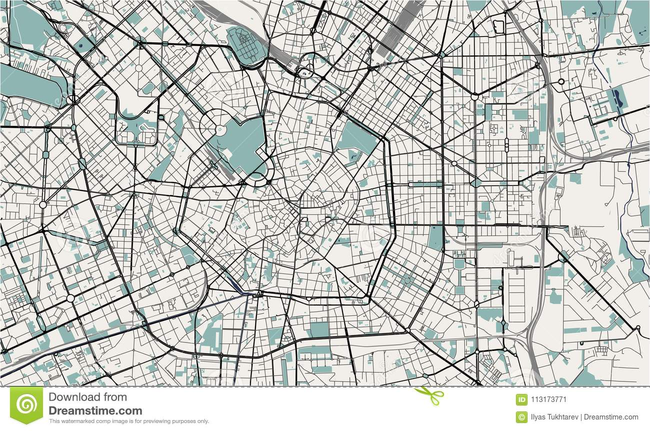 Map Of The City Of Milan Capital Of Lombardy Italy Stock Vector