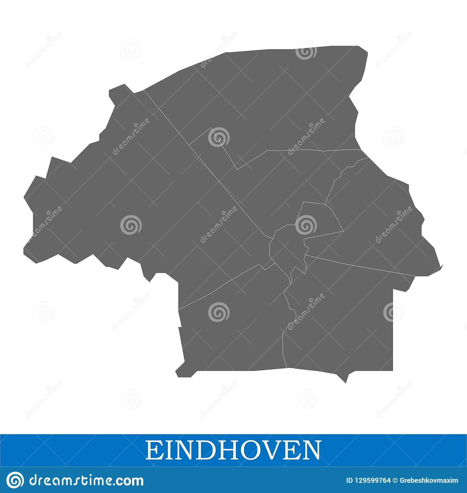 Map Is A City Of Netherlands Stock Illustration - Illustration of ...