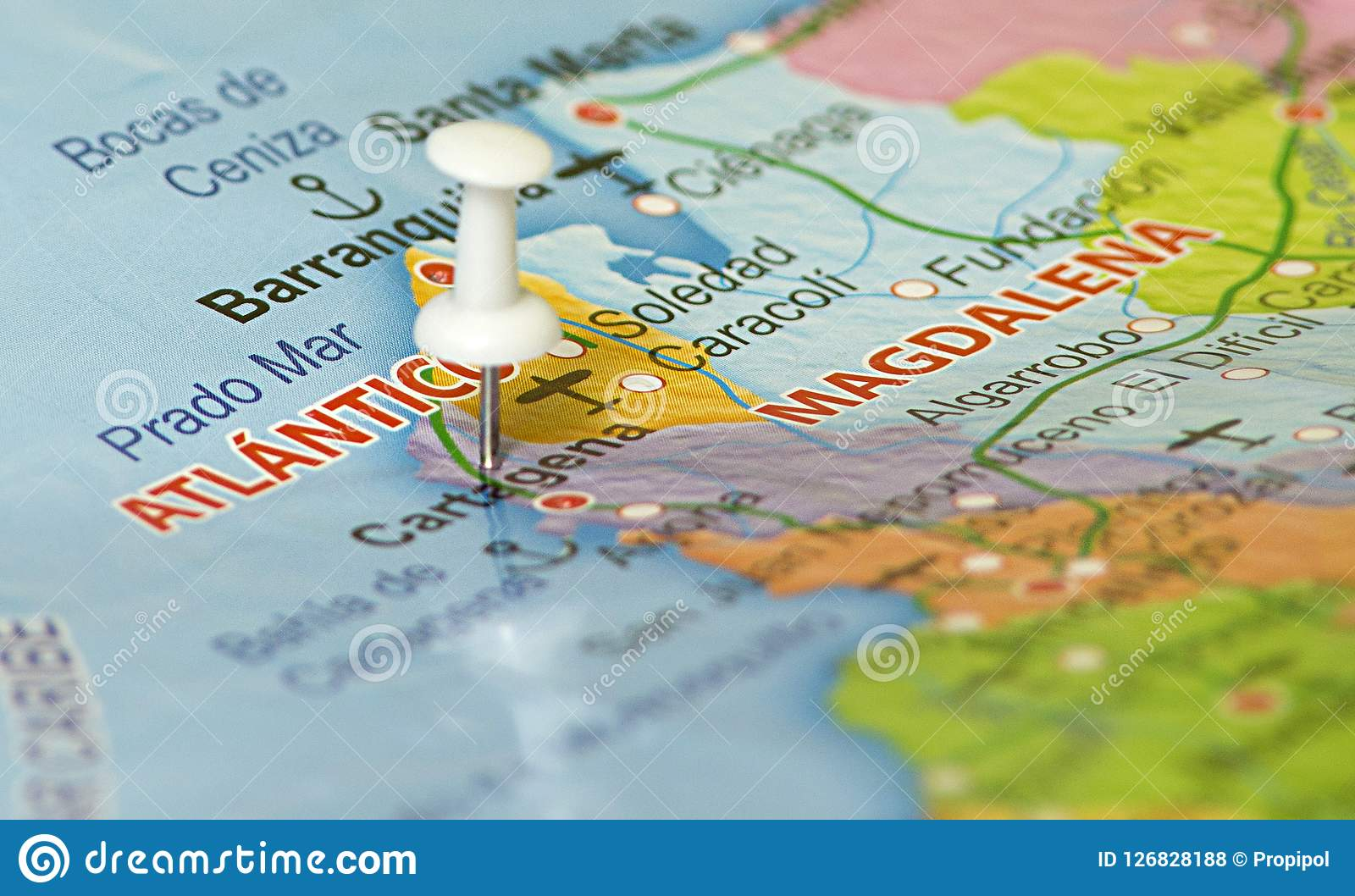 Geographical Location Of Cartagena Colombia Stock Photo - Image of on