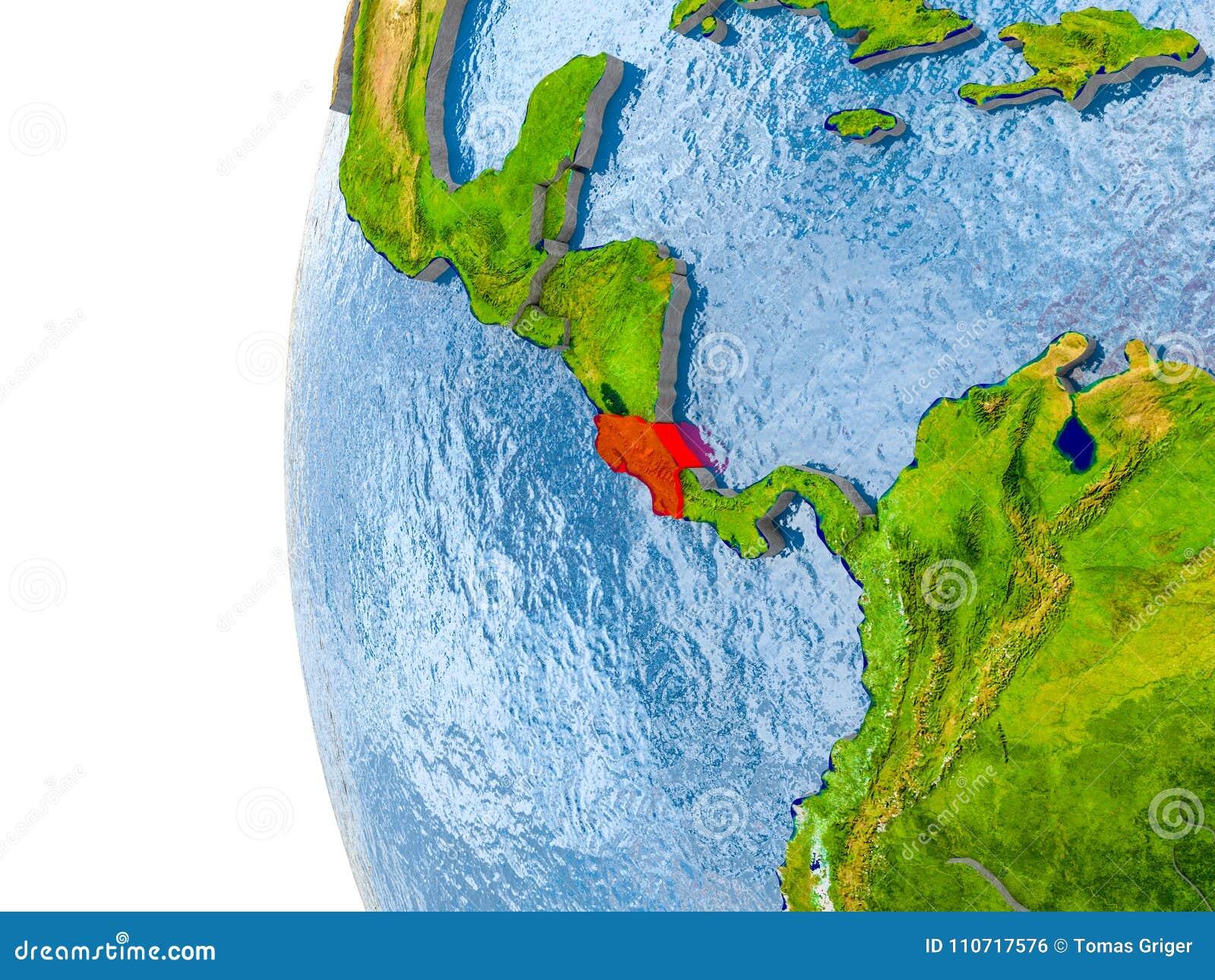 Map Costa Rica Model Globe Stock Illustration
