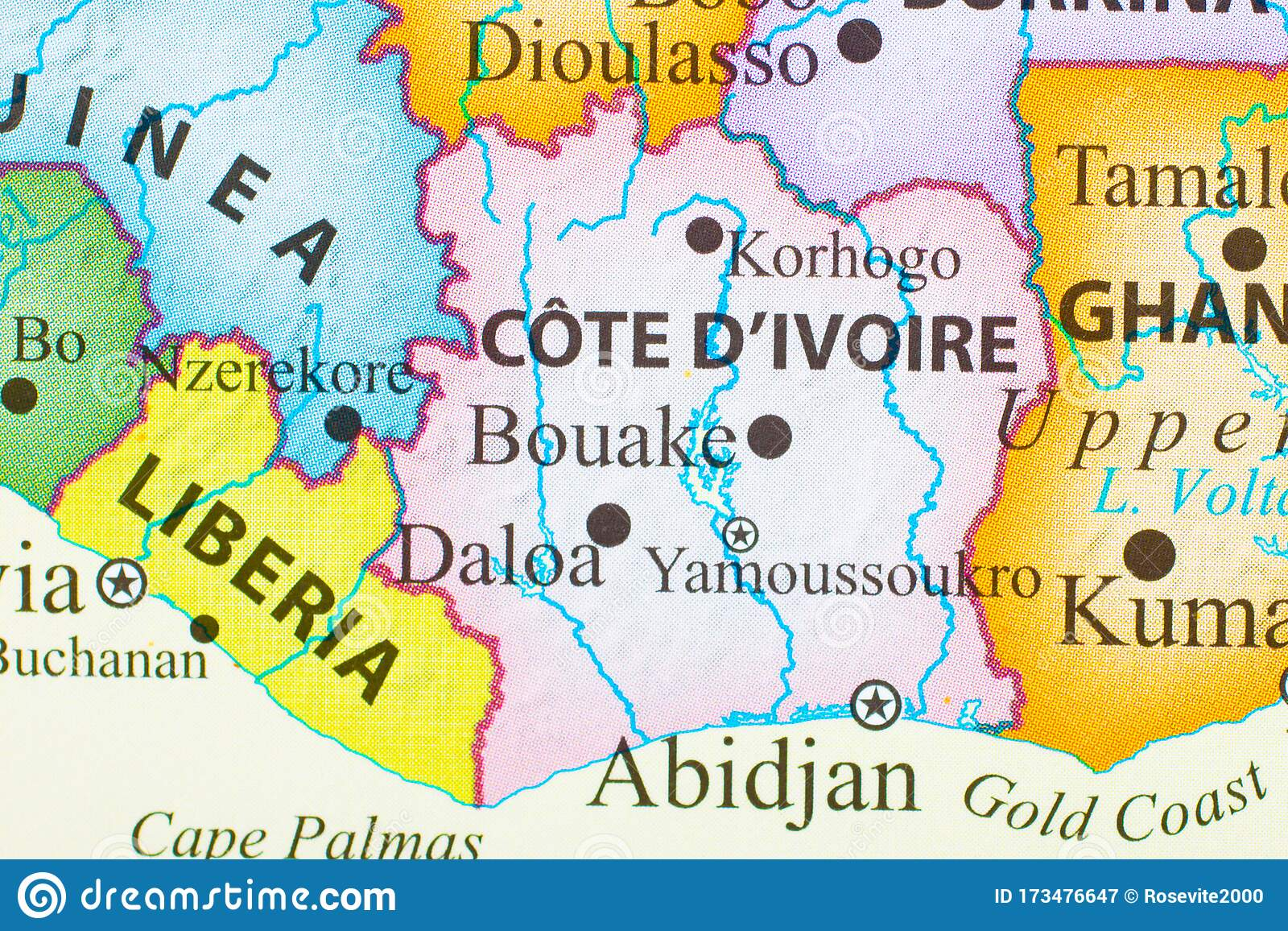 Picture of: Map Of Cote D Ivoire Stock Image Image Of Divoire African 173476647