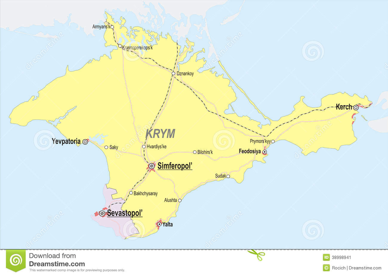 Map of Crimea stock vector. Illustration of national - 38998941
