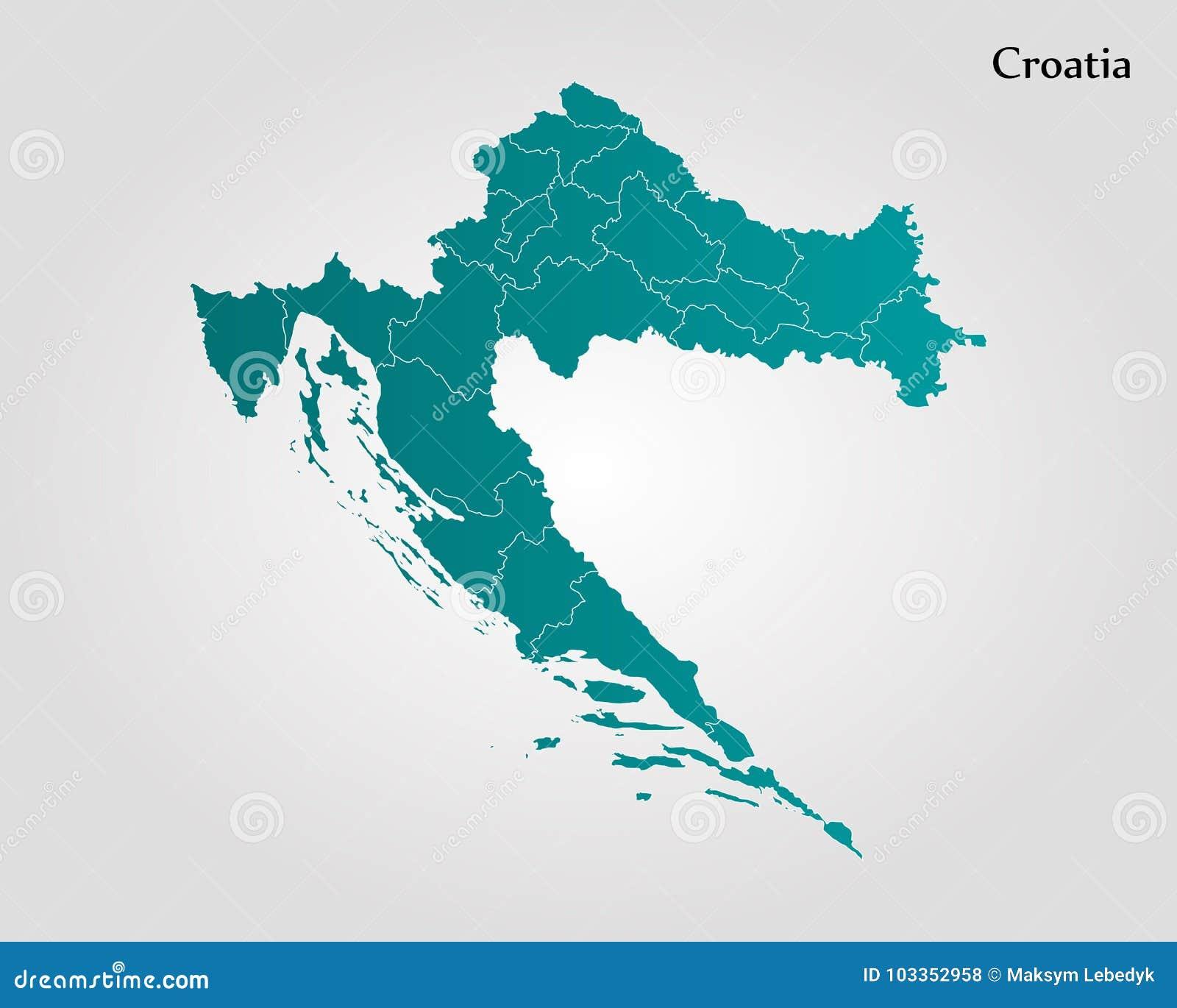 Map of croatia stock illustration illustration of croatia 103352958 map of croatia cartography design royalty free illustration gumiabroncs Images