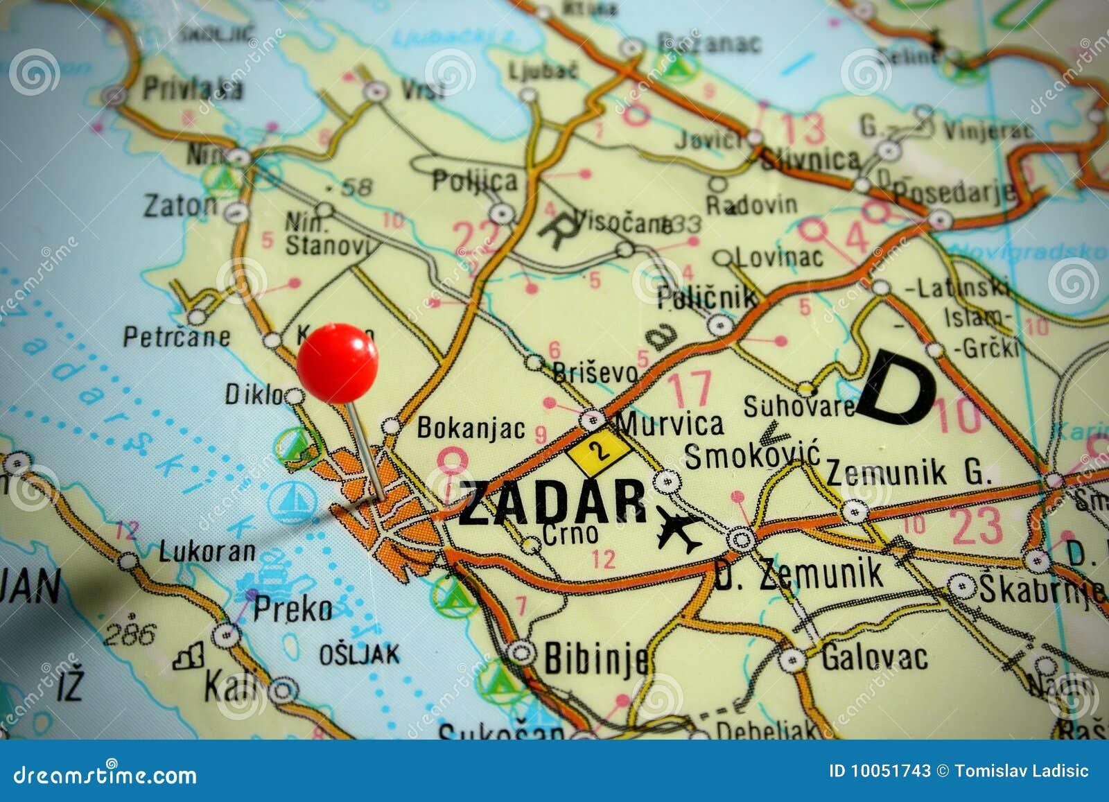 Map Of Croatia Zadar Stock Image Image Of Marketing 10051743