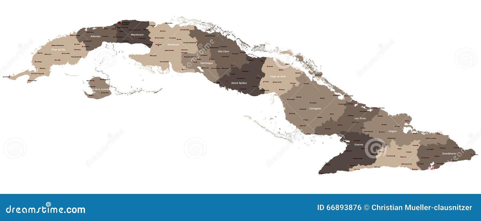 Map Of Cuba Stock Vector Image Of County Area America - Cuba provinces map