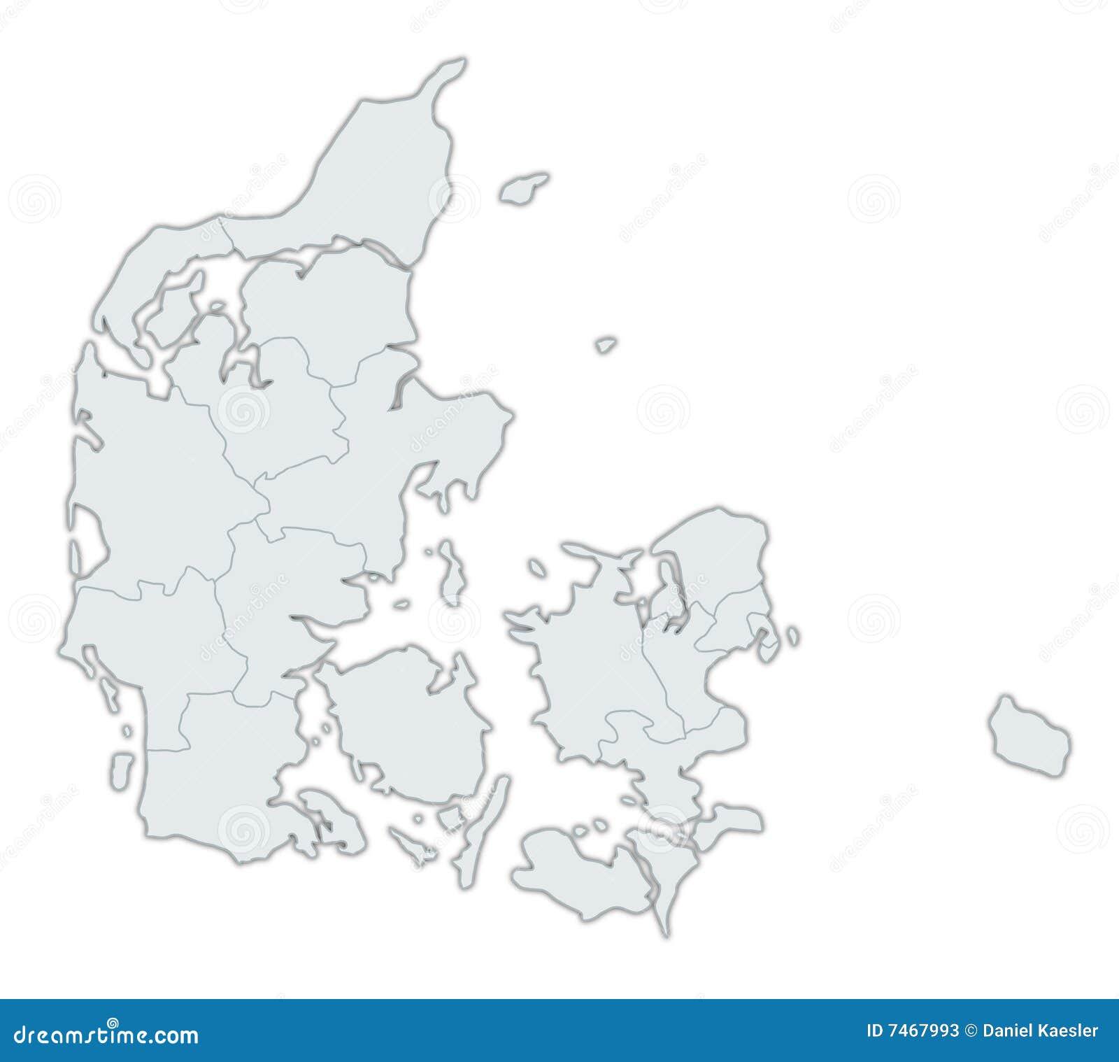 map of denmark stock photos image 7467993