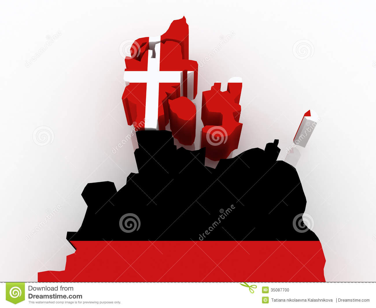 Map Of Denmark And Germany Photo Image 35087700 – Germany Denmark Map