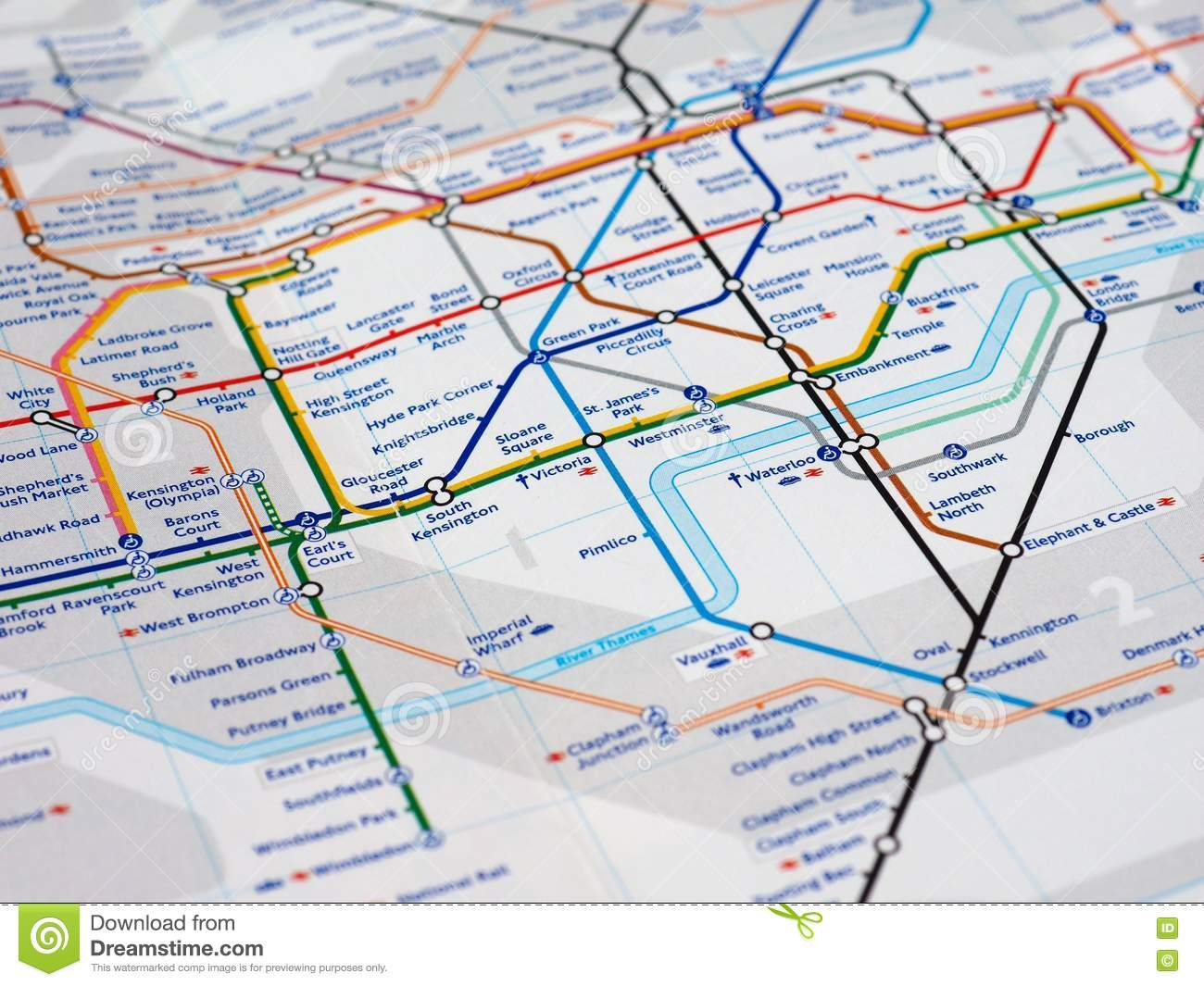 Map Detail With Selective Focus Editorial Stock Photo Image Of
