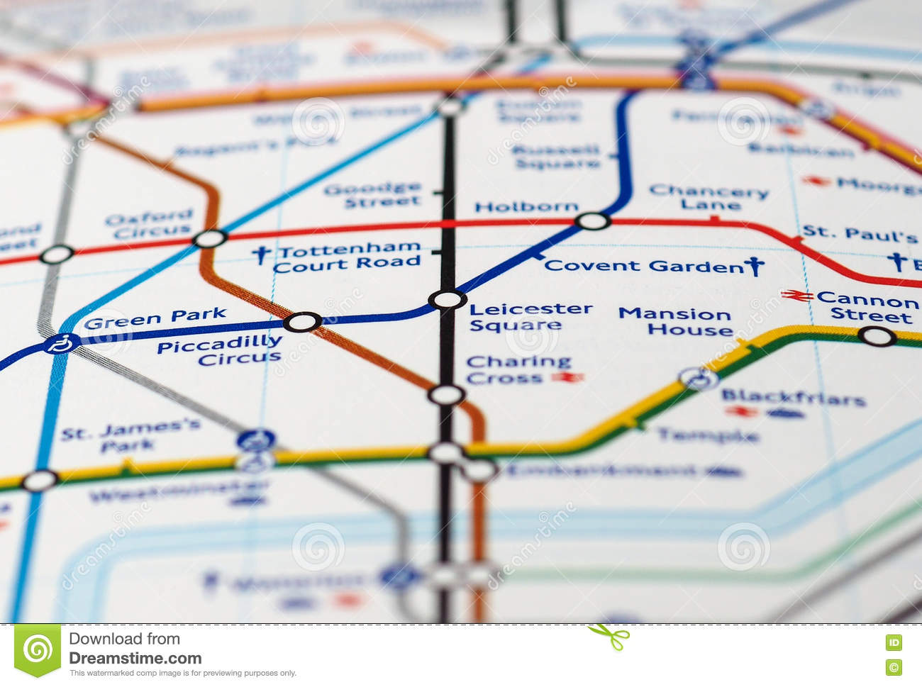 Map Detail With Selective Focus Editorial Stock Image Image Of
