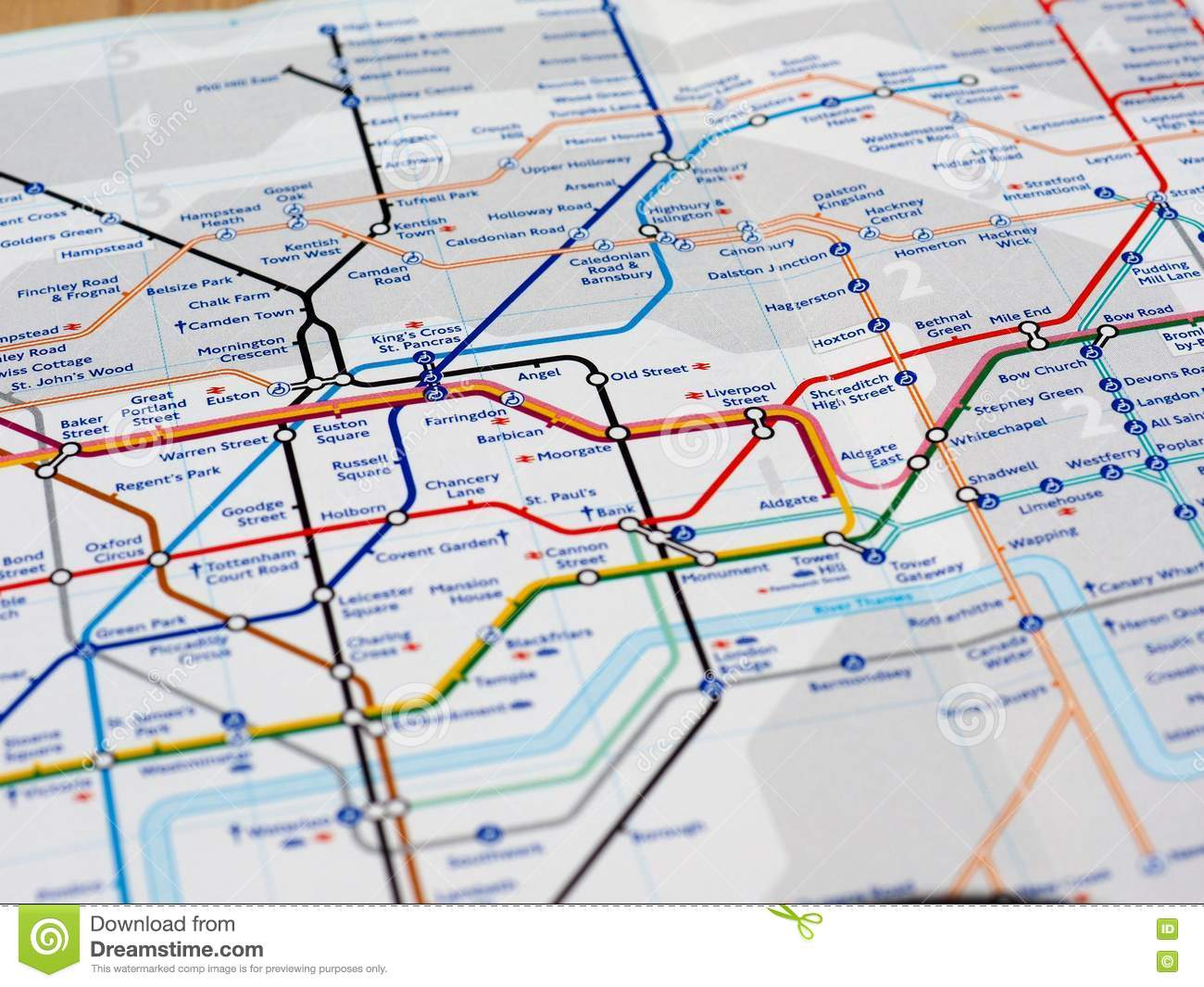 Old Street London Map.Map Detail With Selective Focus Editorial Stock Photo Image Of