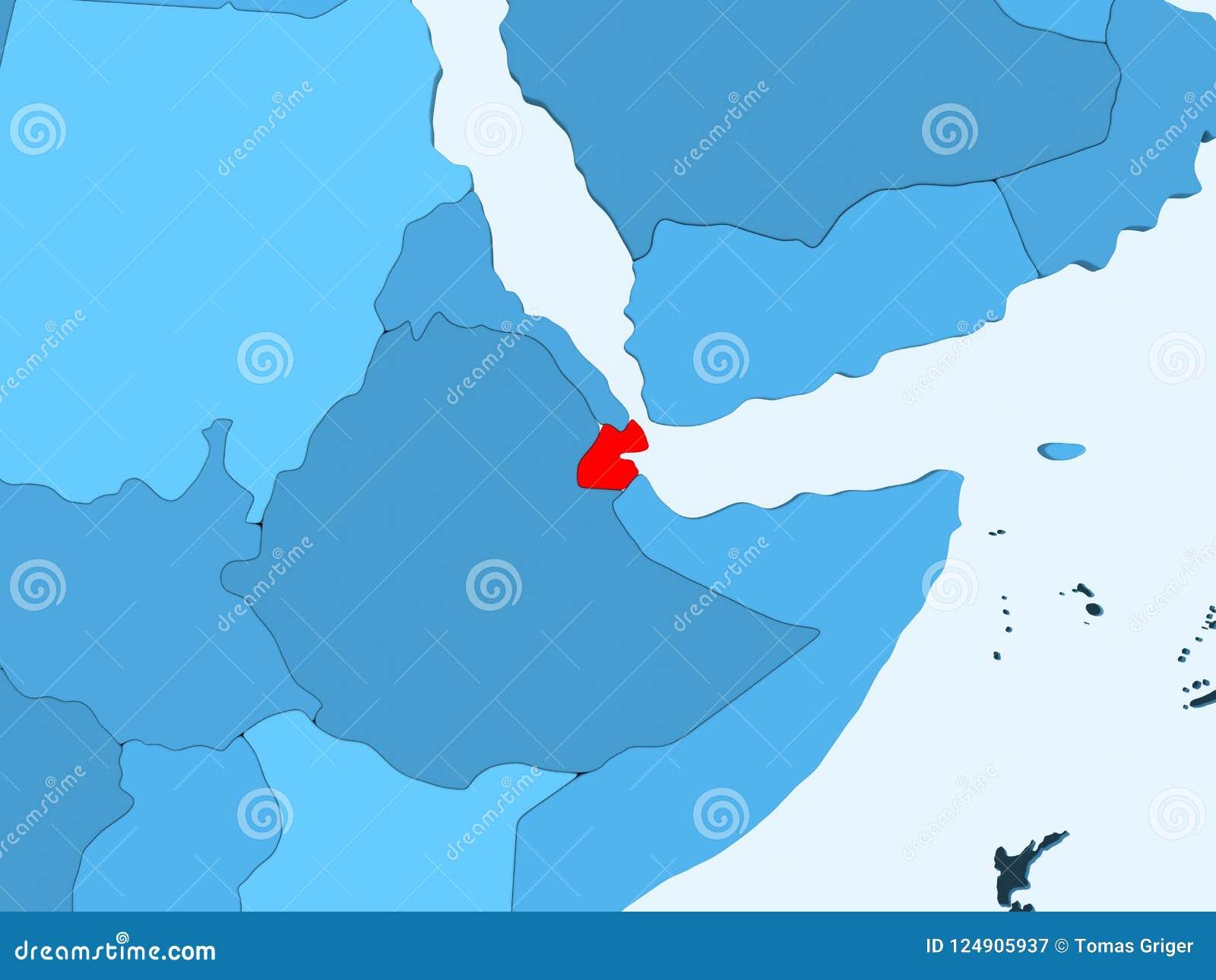 Map of Djibouti stock illustration. Illustration of translucent ...