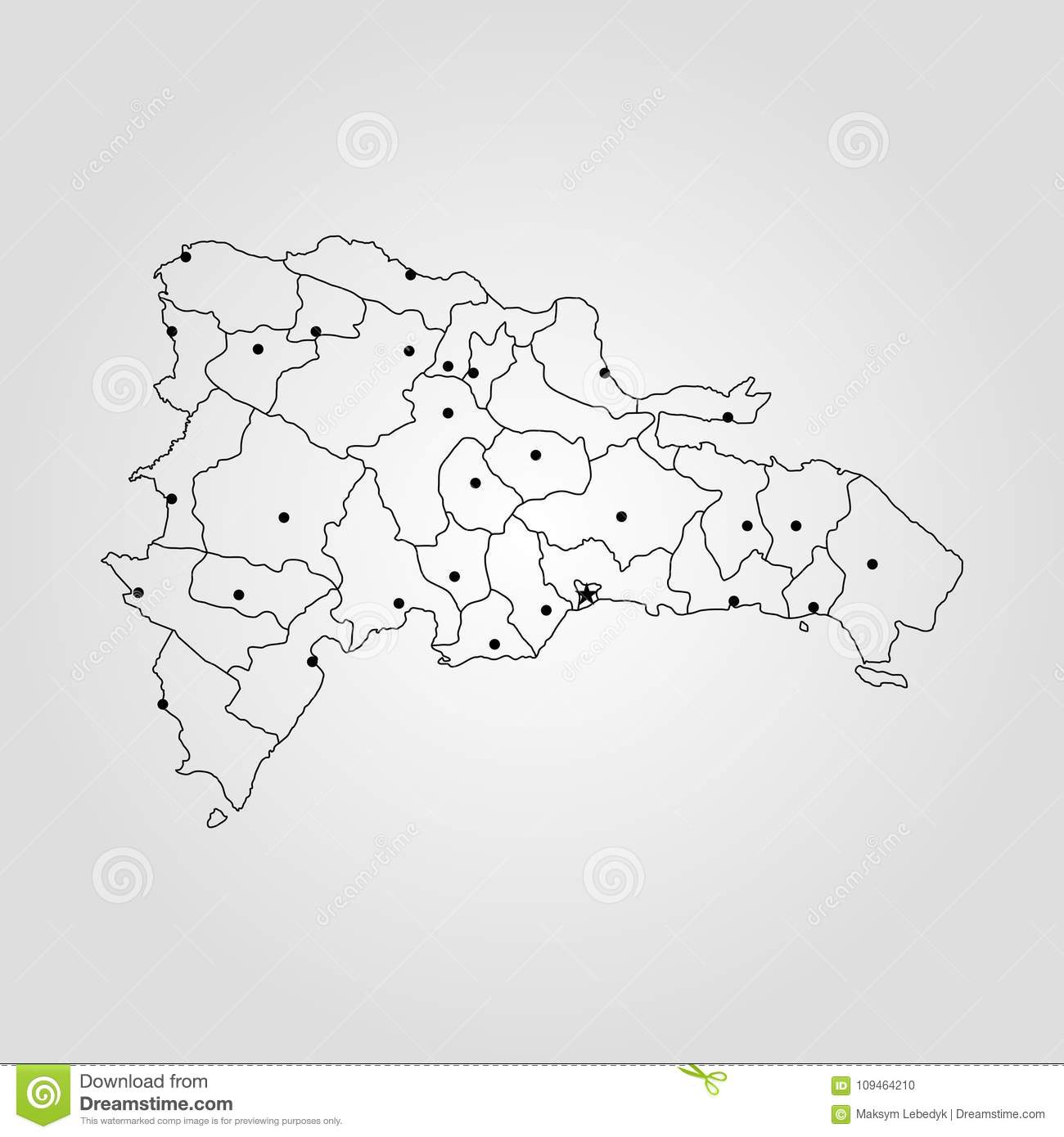 Map of dominican republic stock illustration illustration of map of dominican republic vector illustration world map publicscrutiny Choice Image