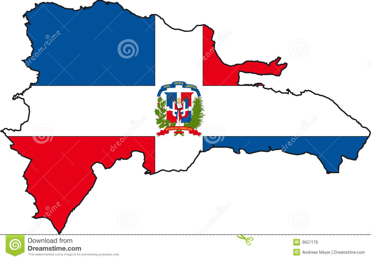 Map Dominican RepublicVector Royalty Free Stock Image Image - Dominican republic map vector
