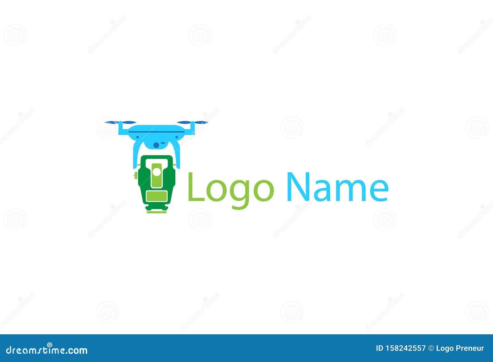 Map Drone Logo icon Design