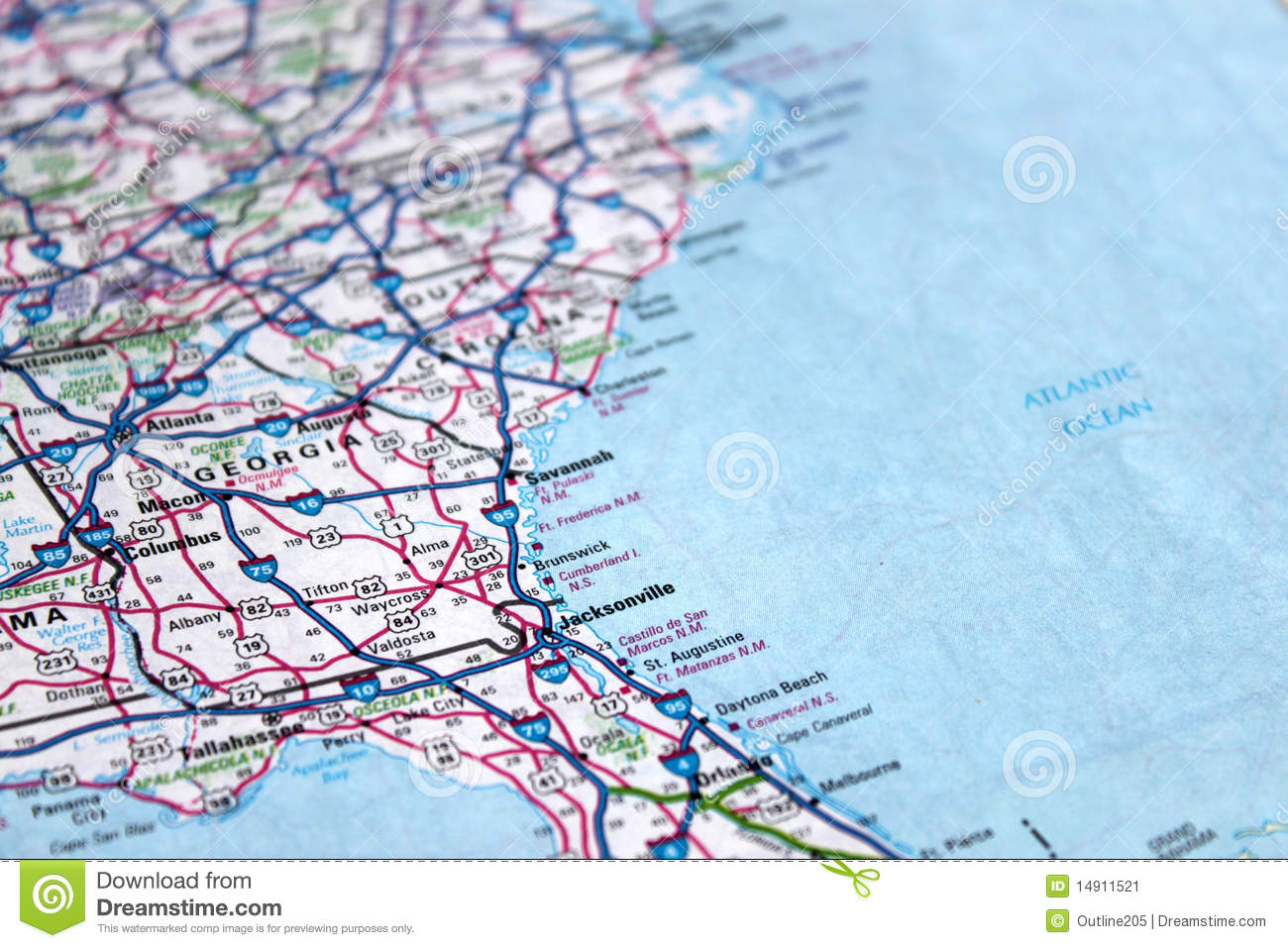 Map East Coast America Stock Image Image - Map of the east coast united states