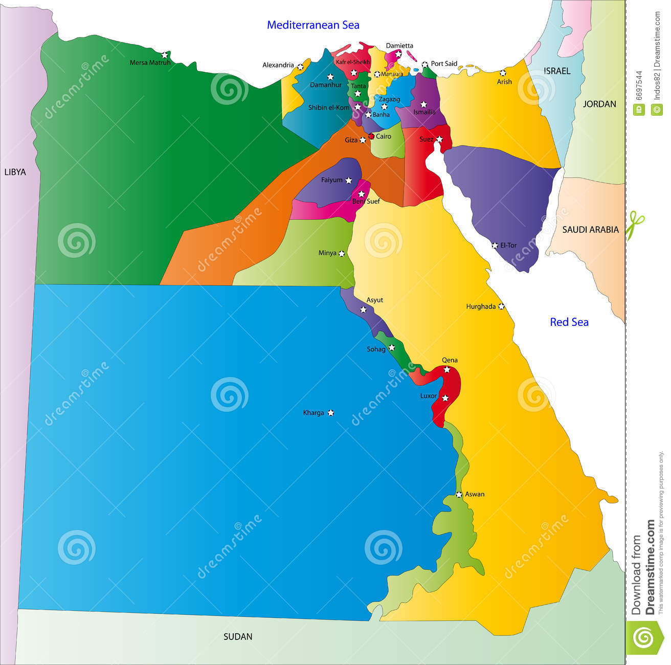 Map Of Egypt Stock Images Image - Map of egypt free download