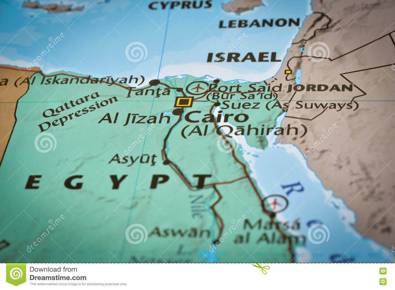 Map Of Egypt Cairo Airport Stock Photo Image - Map of egypt only