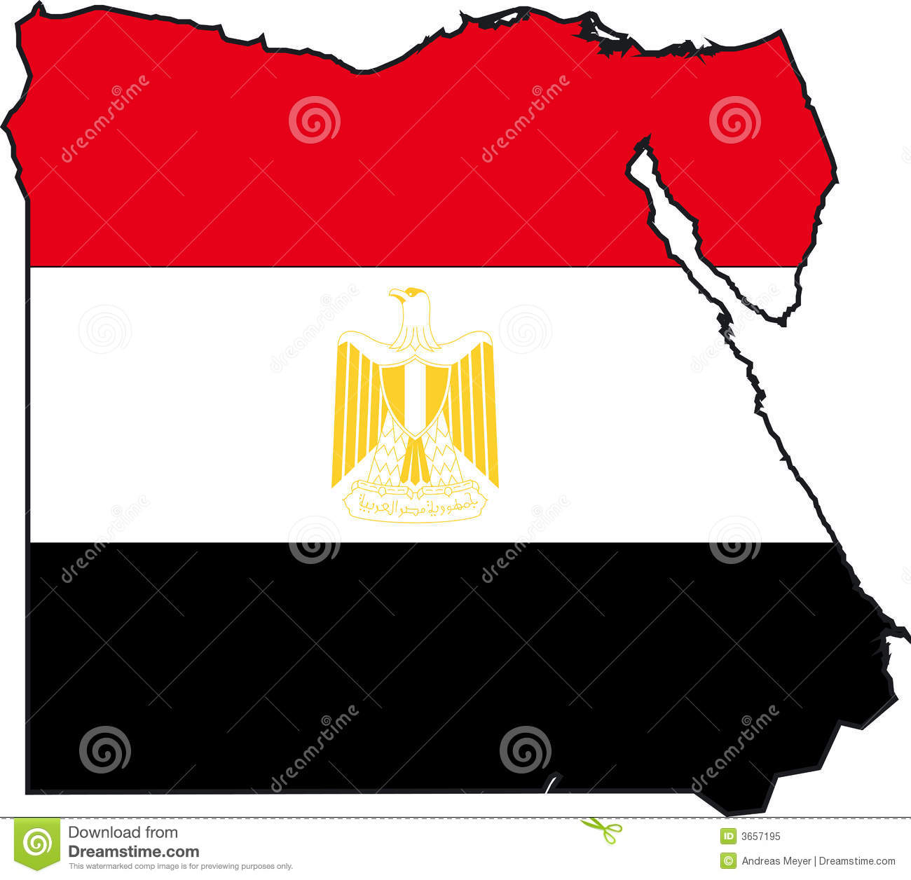 Map EgyptVector Royalty Free Stock Photo Image - Map of egypt vector